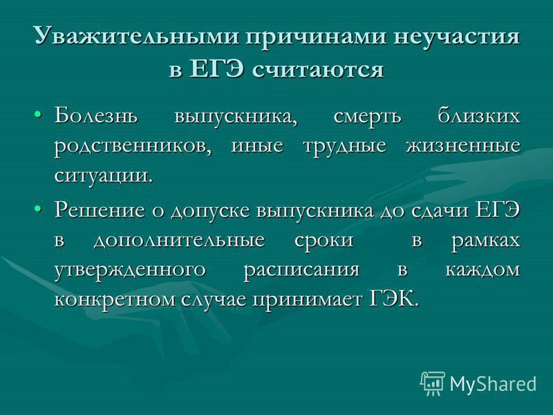 Для выпускников текущего года, получивших на государственной (итоговой аттестации) в форме ЕГЭ неудовлетворительный результат 19 июня (суббота) – русский язык 19 июня (суббота) – русский язык 21 июня (понедельник) – математика 21 июня (понедельник) –