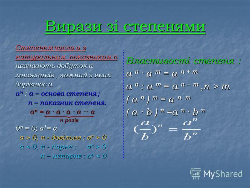 Тотожні вирази -вирази, які мають однакові числові значення, при всіх допустимих значеннях букв, що входять в них. Два тотожно рівні вирази сполучені знаком рівності - тотожності 2( а + с ) = 2а + 2с Заміна одного виразу іншим виразом, що тотожно дор