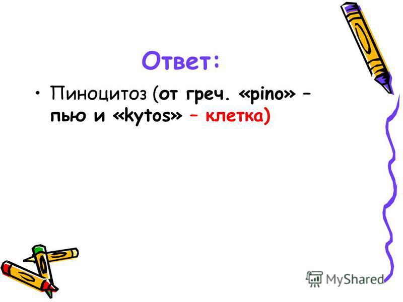 Ответ: Пиноцитоз (от греч. «pino» – пью и «kytos» – клетка)