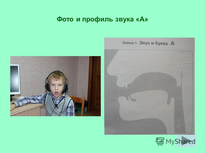 Фото и профиль звука «А»