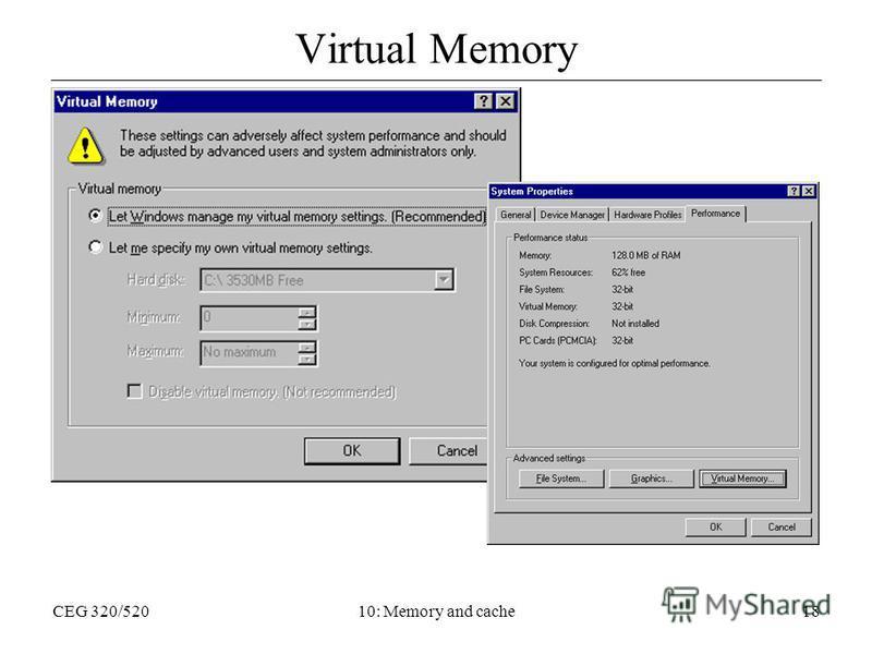 CEG 320/52010: Memory and cache18 Virtual Memory