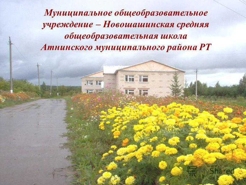 Муниципальное общеобразовательное учреждение – Новошашинская средняя общеобразовательная школа Атнинского муниципального района РТ