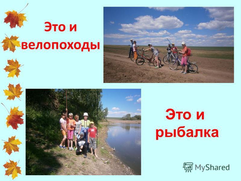 Это и велопоходы Это и рыбалка