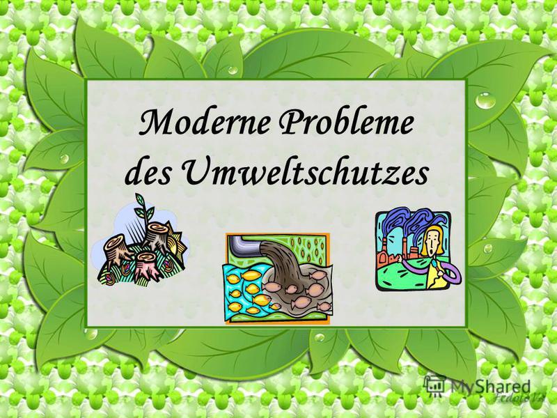Moderne Probleme des Umweltschutzes