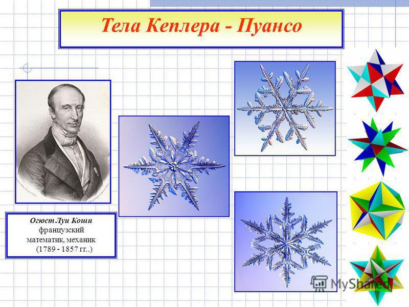 Огюст Луи Коши французский математик, механик (1789 - 1857 гг..) Тела Кеплера - Пуансо
