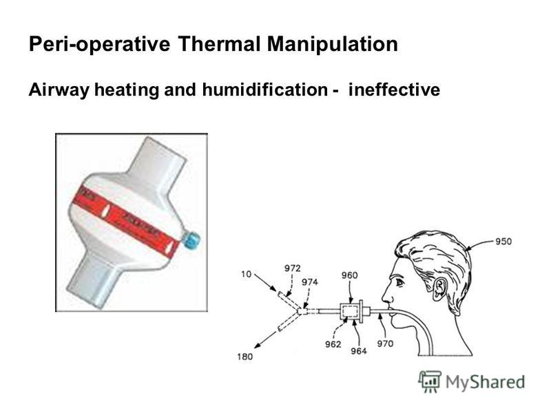 Peri-operative Thermal Manipulation Airway heating and humidification - ineffective