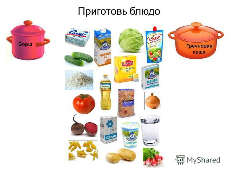 Борщ Приготовь блюдо Гречневая каша