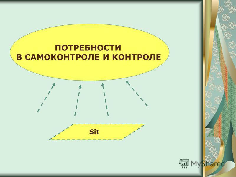 ПОТРЕБНОСТИ В САМОКОНТРОЛЕ И КОНТРОЛЕ Sit