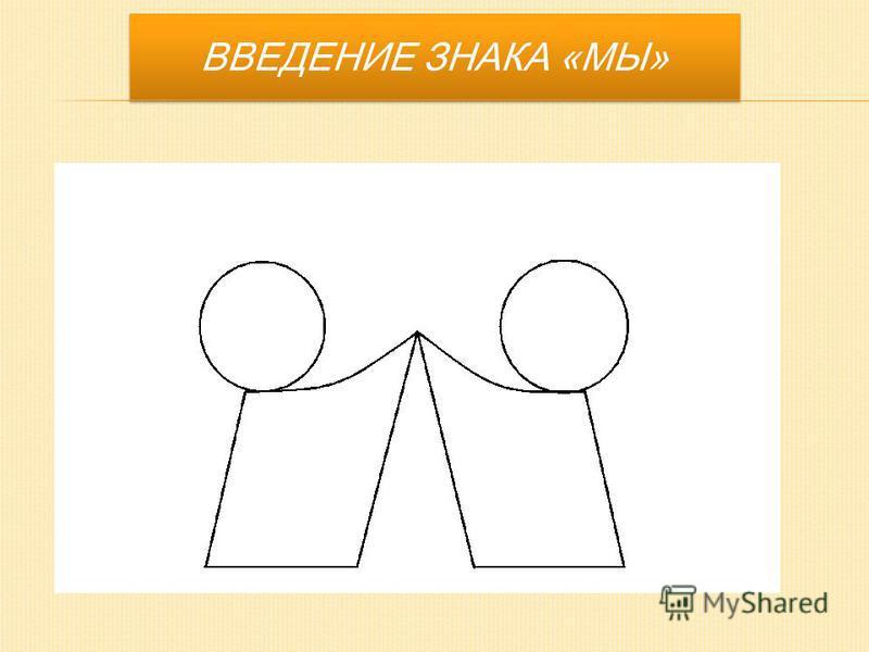 ВВЕДЕНИЕ ЗНАКА «МЫ»