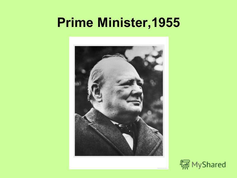 Prime Minister,1955