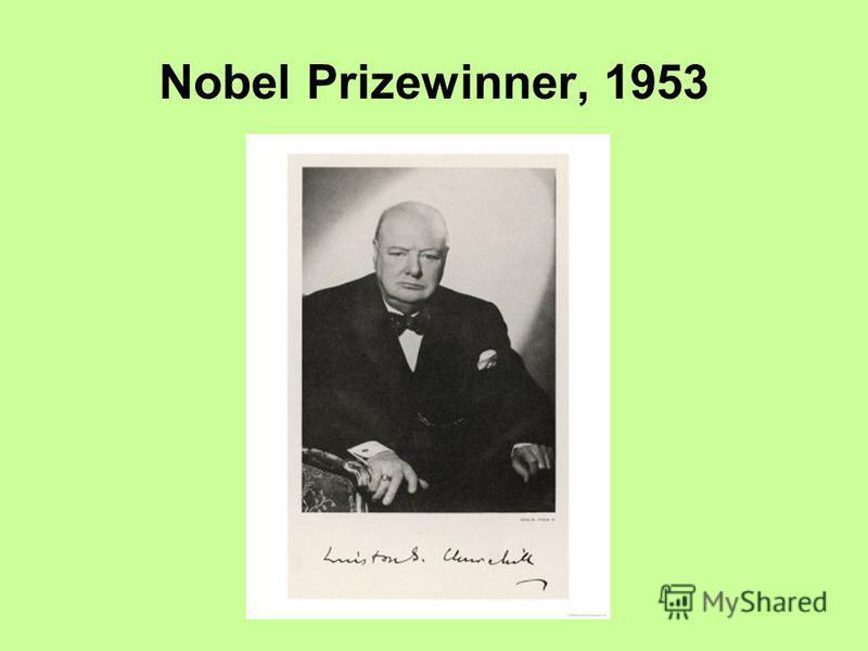Nobel Prizewinner, 1953