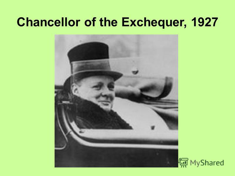Chancellor of the Exchequer, 1927