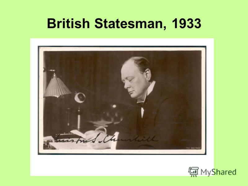 British Statesman, 1933