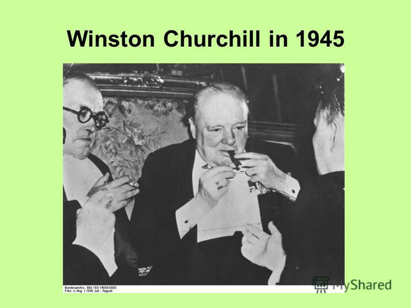 Winston Churchill in 1945