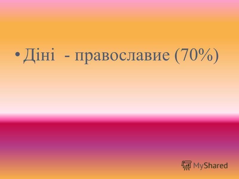Діні - православие (70%)