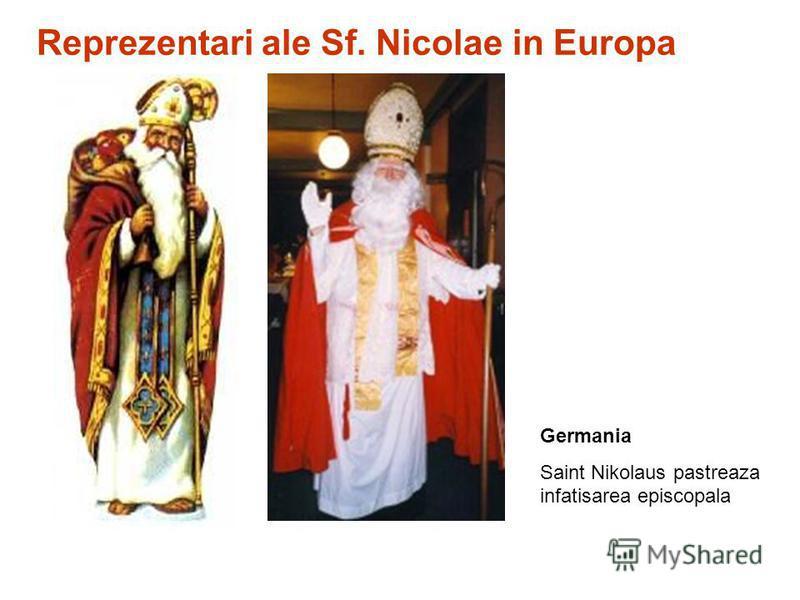Germania Saint Nikolaus pastreaza infatisarea episcopala Reprezentari ale Sf. Nicolae in Europa