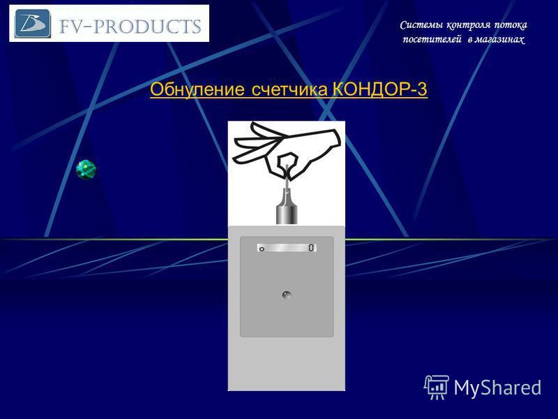 Системы контроля потока посетителей в магазинах Обнуление счетчика КОНДОР-3