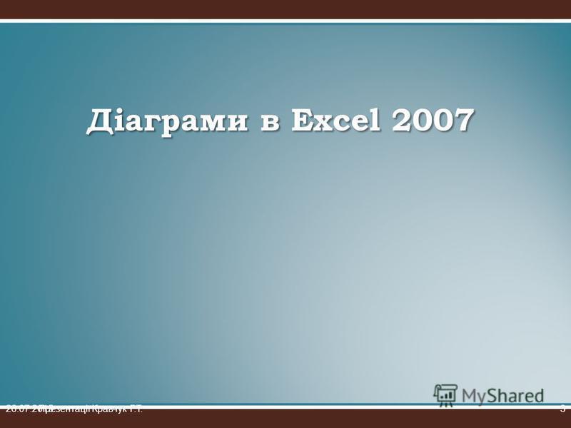 Діаграми в Excel 2007 26.07.2015Презентації Кравчук Г.Т.3