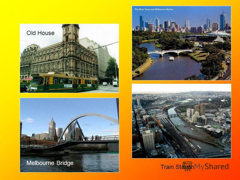 Train Station Melbourne Bridge Old House