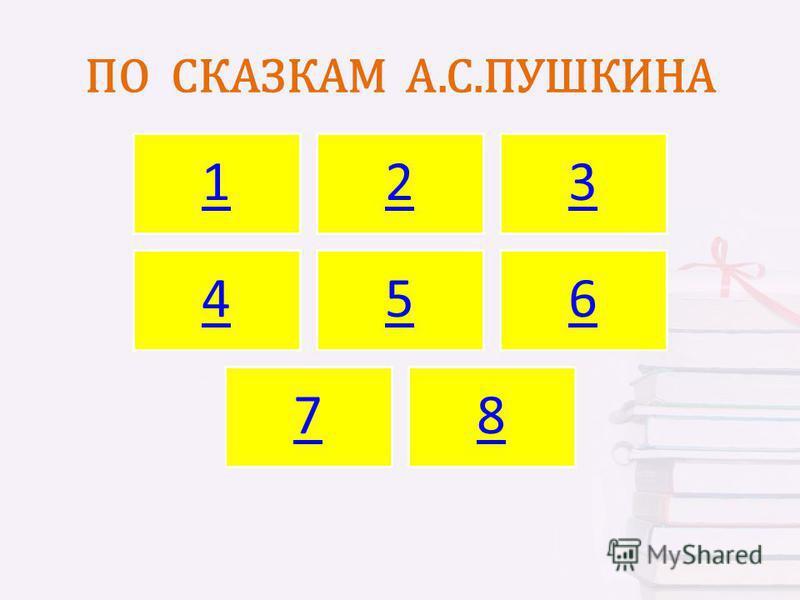 ПО СКАЗКАМ А.С.ПУШКИНА 123 456 78