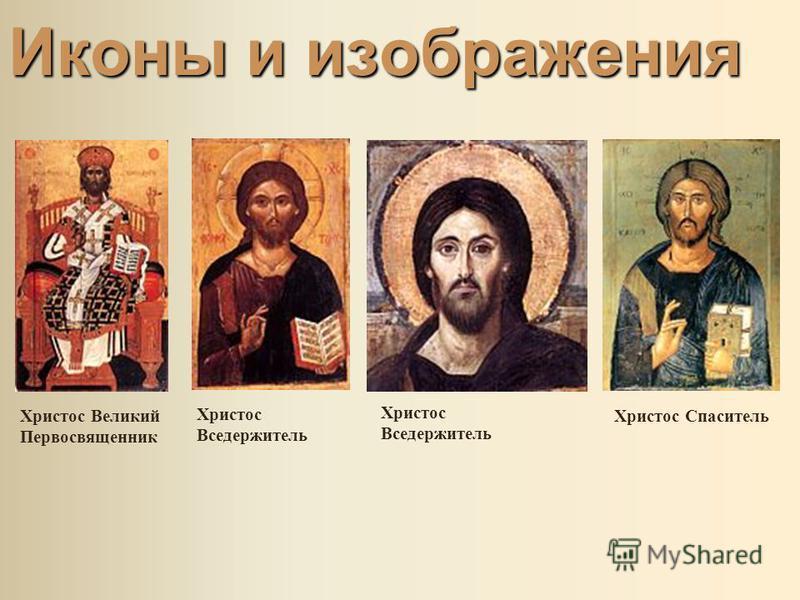 Иконы и изображения Христос Великий Первосвященник Христос Вседержитель Христос Спаситель