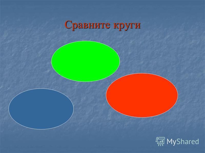 Сравните круги