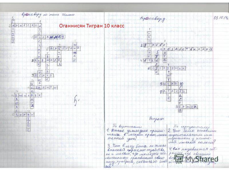 Оганнисян Тигран 10 класс