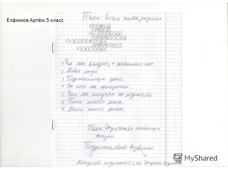 Елфимов Артём 5 класс
