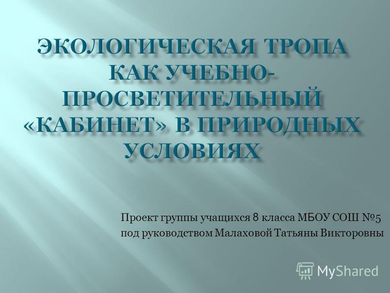МБОУ СОШ 5 г. Кузнецка (Турпроект)