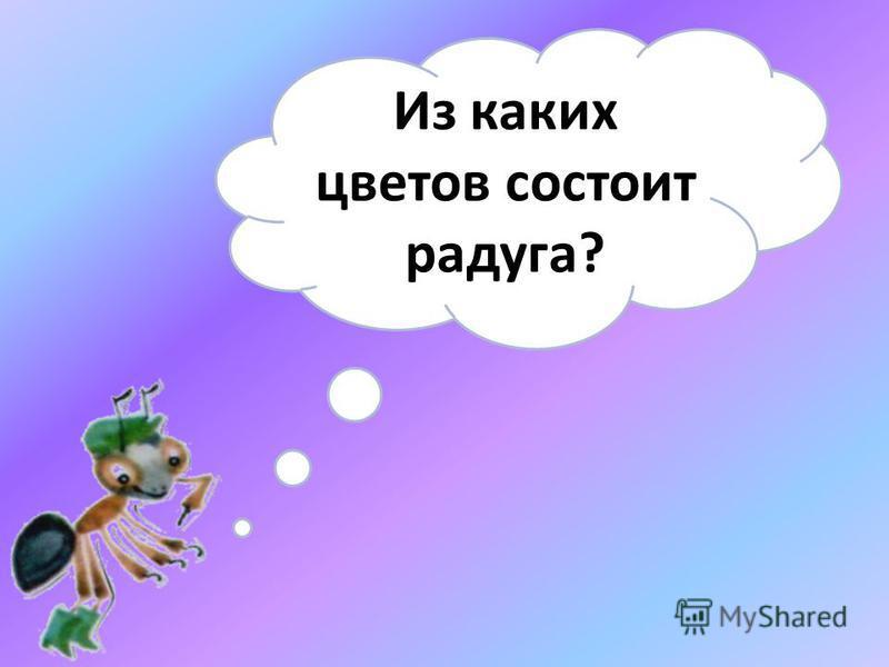 Из каких цветов состоит радуга?