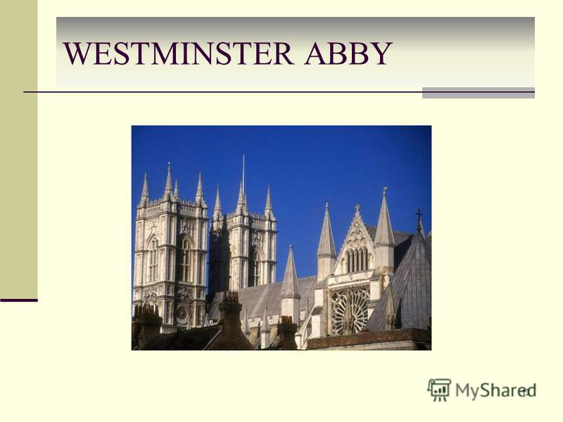 WESTMINSTER ABBY 13