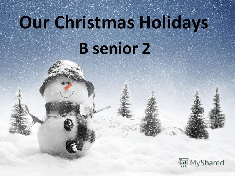 Our Christmas Holidays B senior 2