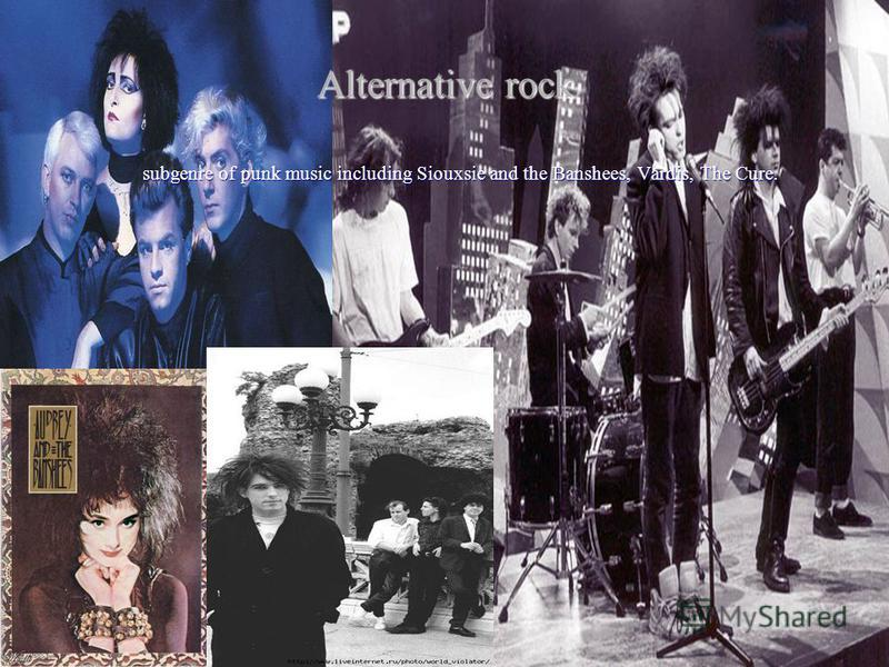 Alternative rock subgenre of punk music including Siouxsie and the Banshees, Vardis, The Cure.