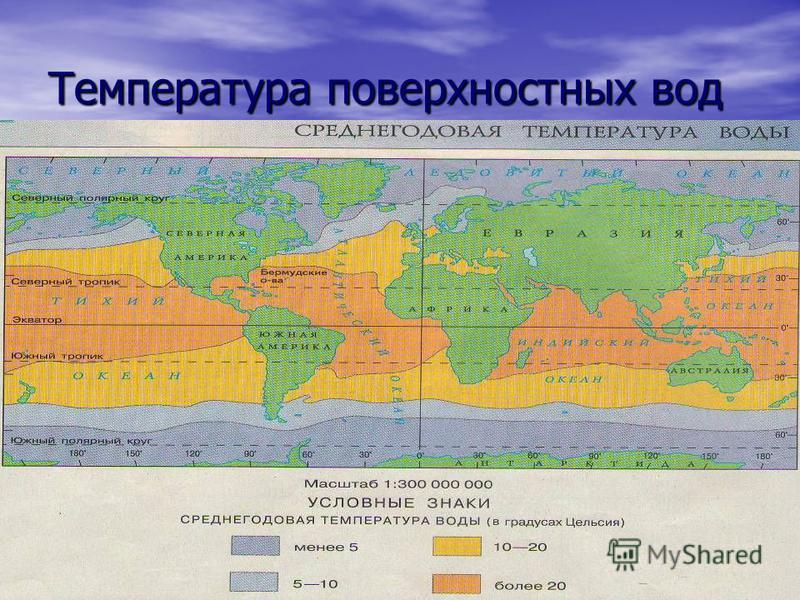 Температура поверхностных вод