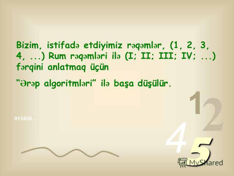 013456… 1 2 4 5 RƏQƏMLƏR