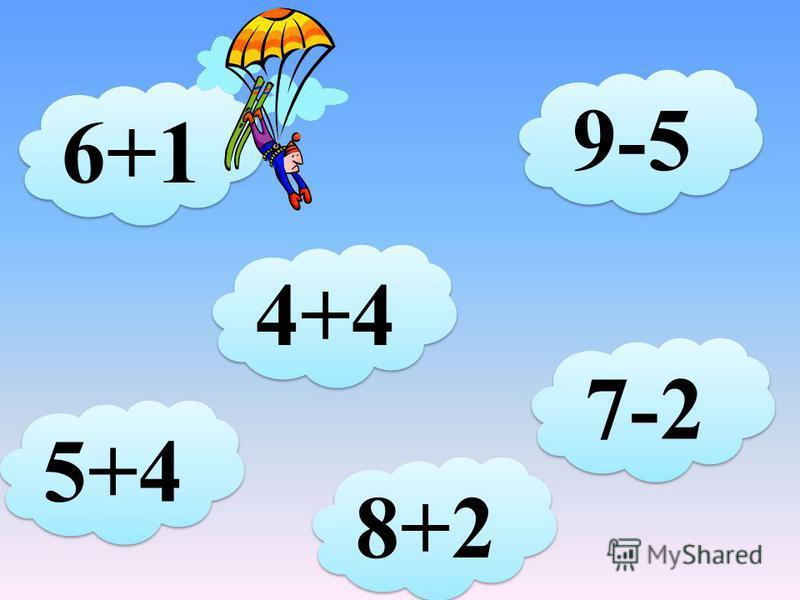 3+4 5+4 9-6 8-3 10-2 7+3