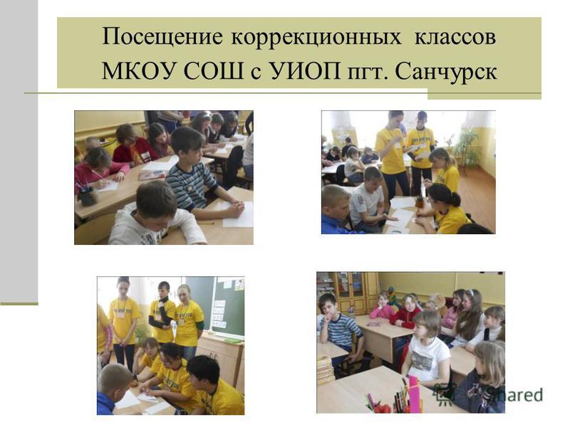Посещение коррекционных классов МКОУ СОШ с УИОП пгт. Санчурск