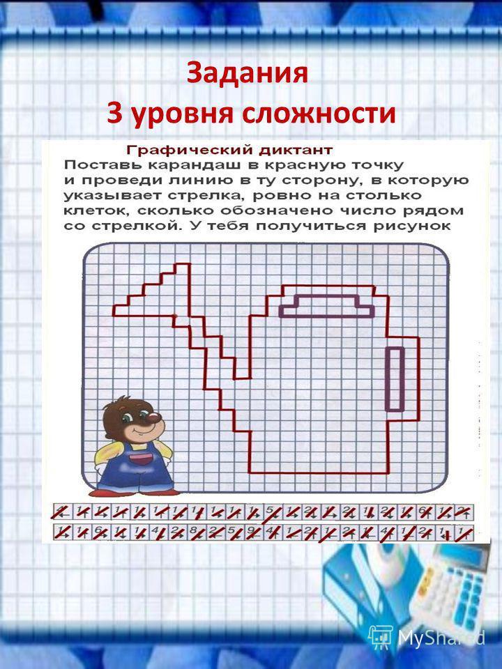 Задания 3 уровня сложности