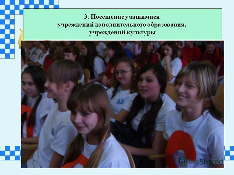 3. Посещение учащимися учреждений дополнительного образования, учреждений культуры