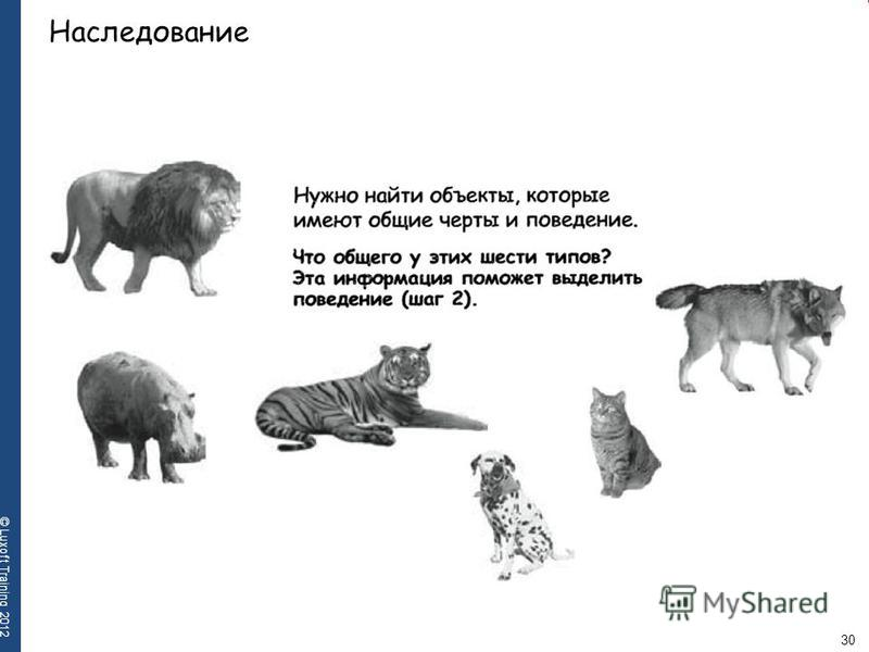 30 © Luxoft Training 2012 Наследование