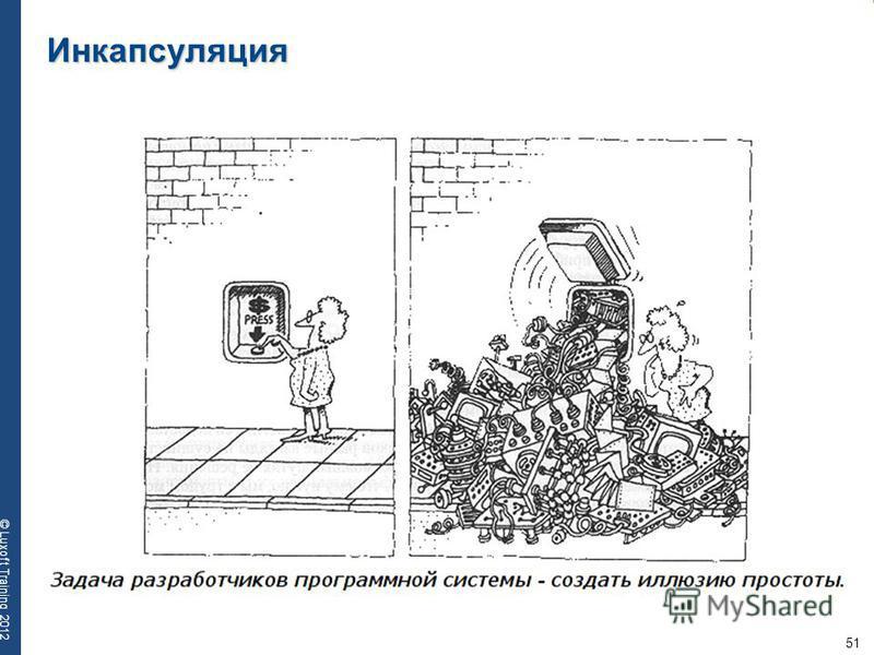 51 © Luxoft Training 2012 Инкапсуляция