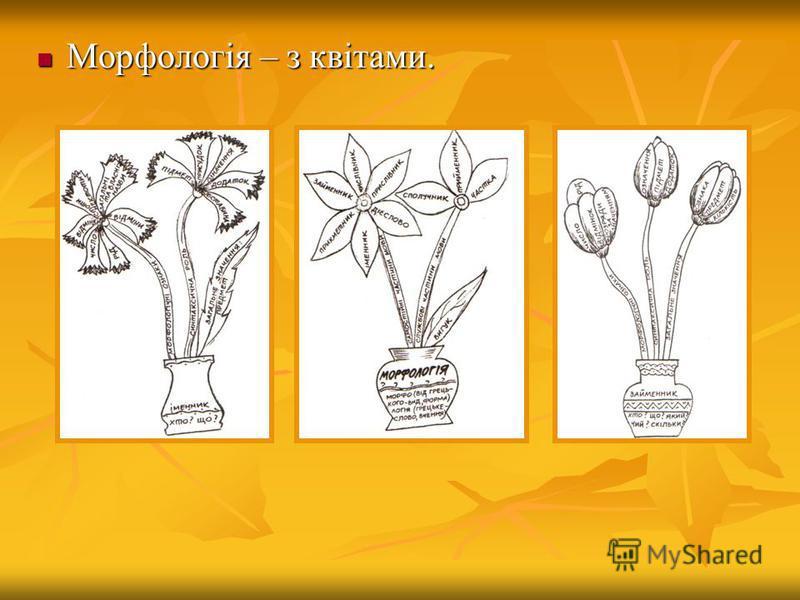 Морфологія – з квітами. Морфологія – з квітами.