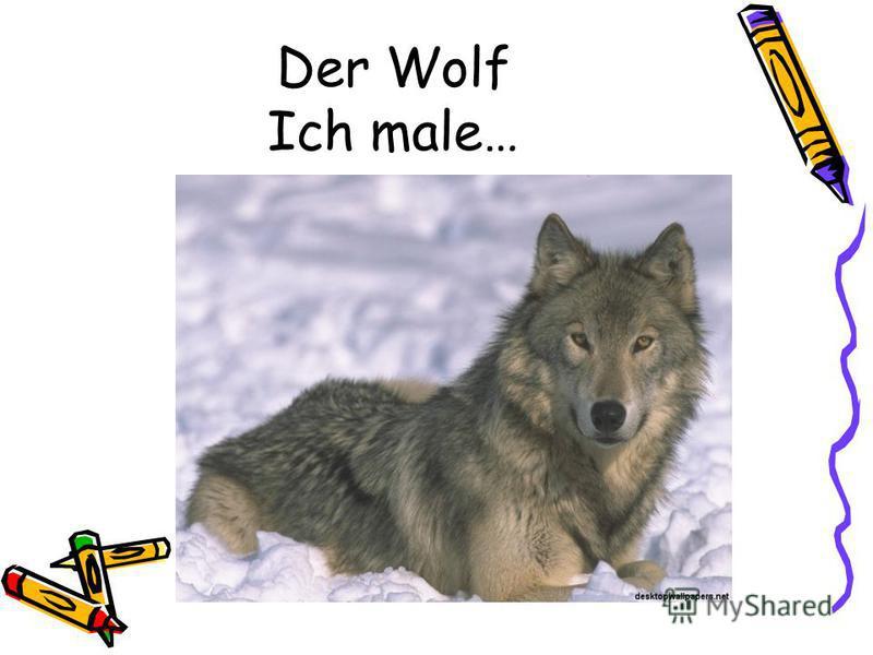 Der Wolf Ich male…