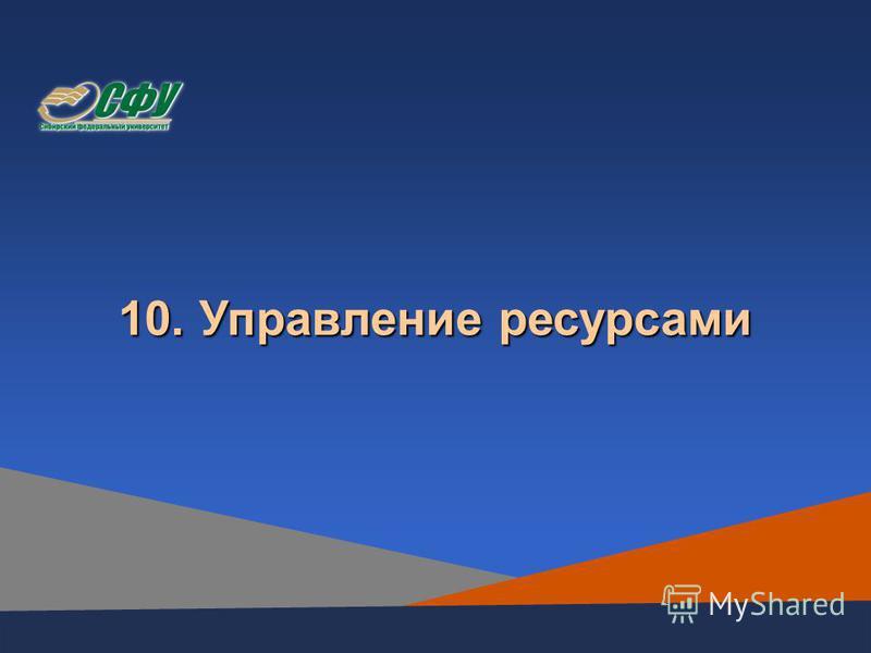 10. Управление ресурсами