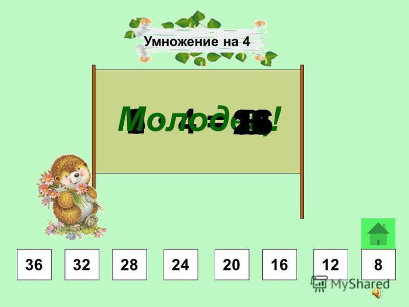 4 3 =8 3 =9 3 =2 3 =6 3 =3 3 =5 3 = Молодец! 7 3 = 2427 618 915211212 Умножение на 3 2124271812121596 24 24 27 27 216 6 9 9 12 1212 15 15 18 18