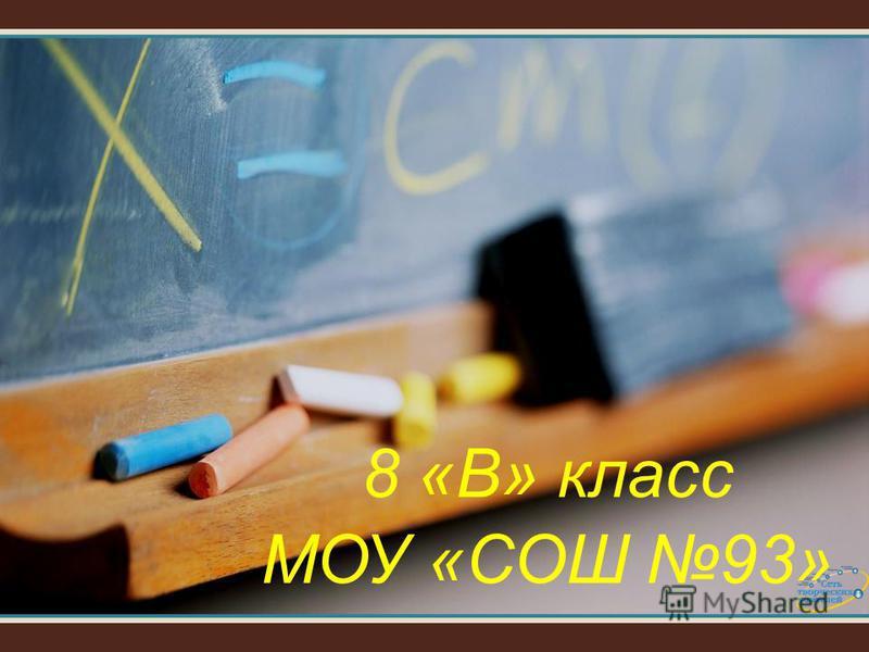 8 «В» класс МОУ «СОШ 93»