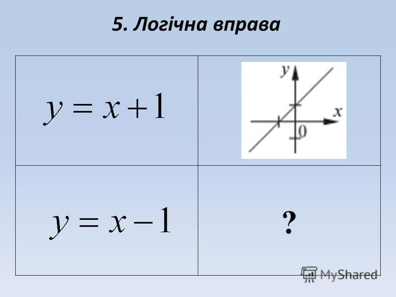 5. Логічна вправа ?