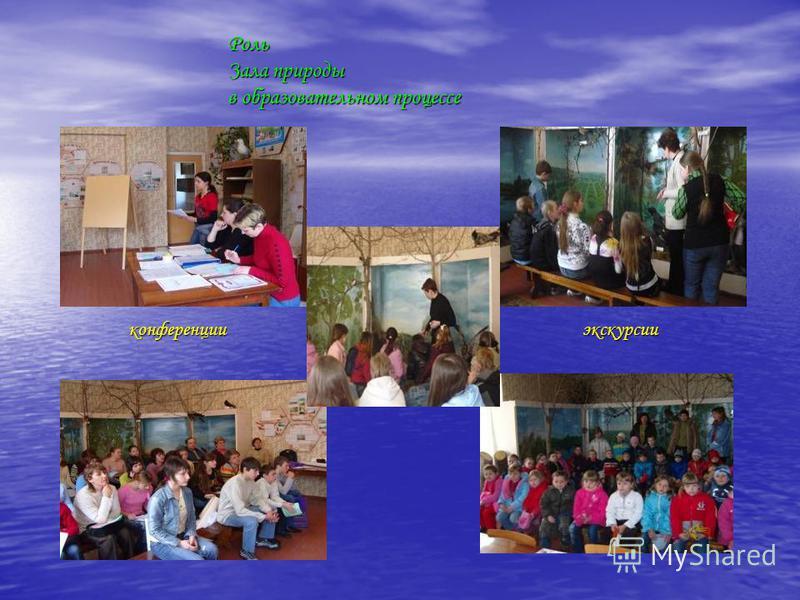 Роль Зала природы в образовательном процессе конференции экскурсии