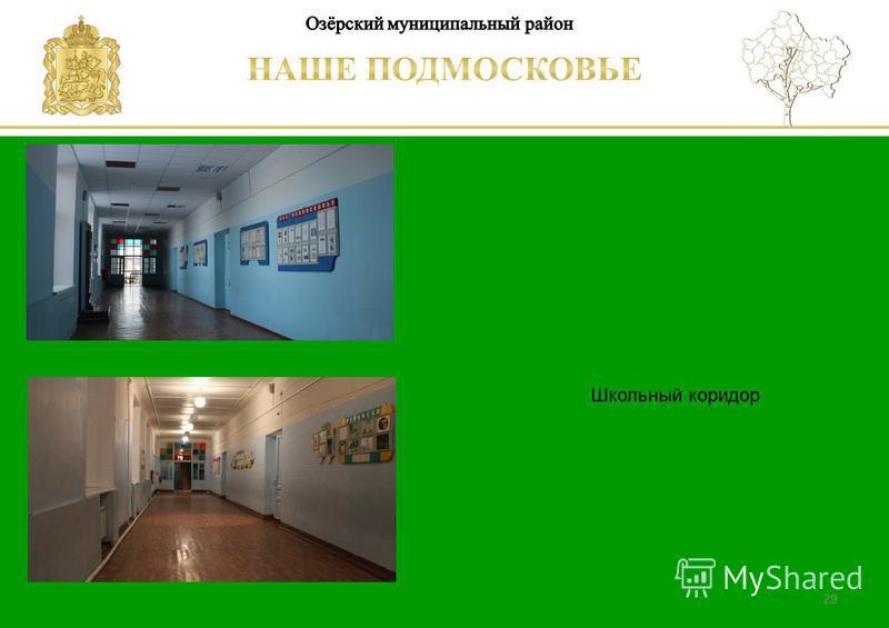 Паспорт школы Люберецкий муниципальный район 29 Школьный коридор