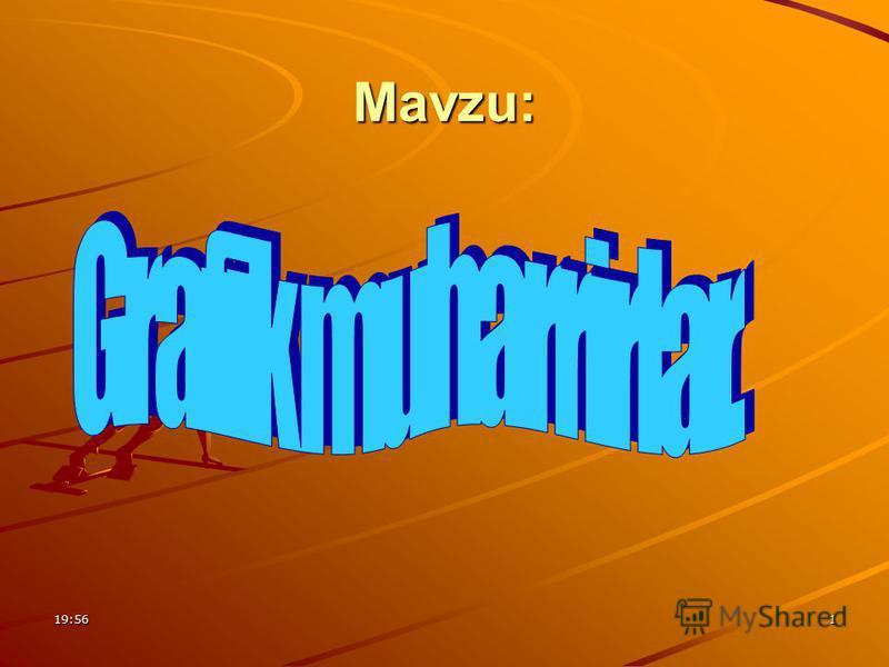 19:571 Mavzu:
